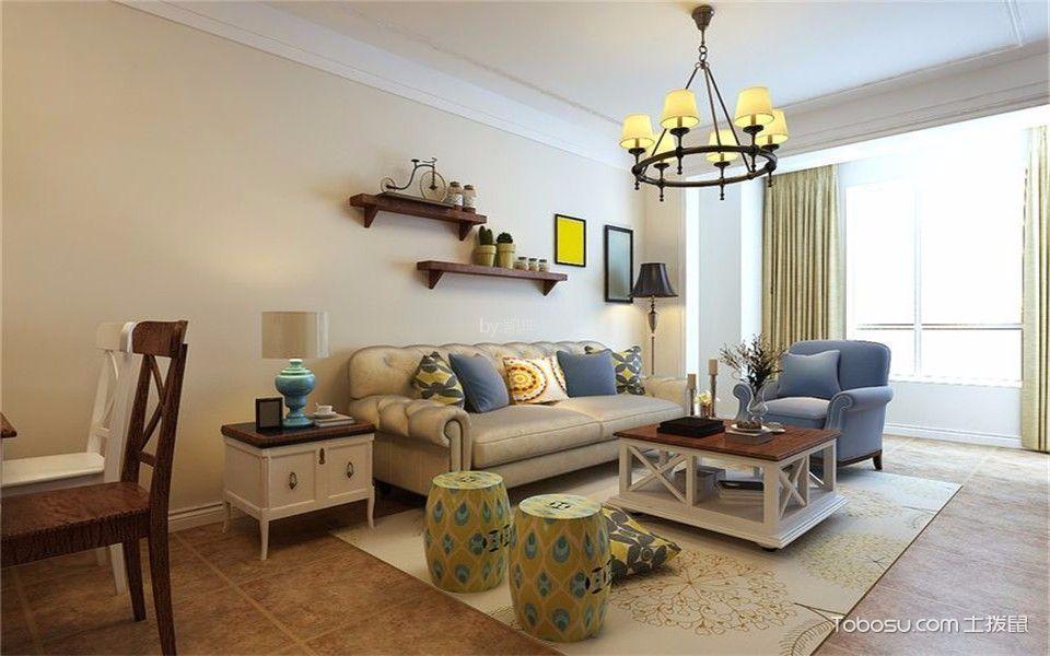 皇册家园100平美式风格二居室装修效果图