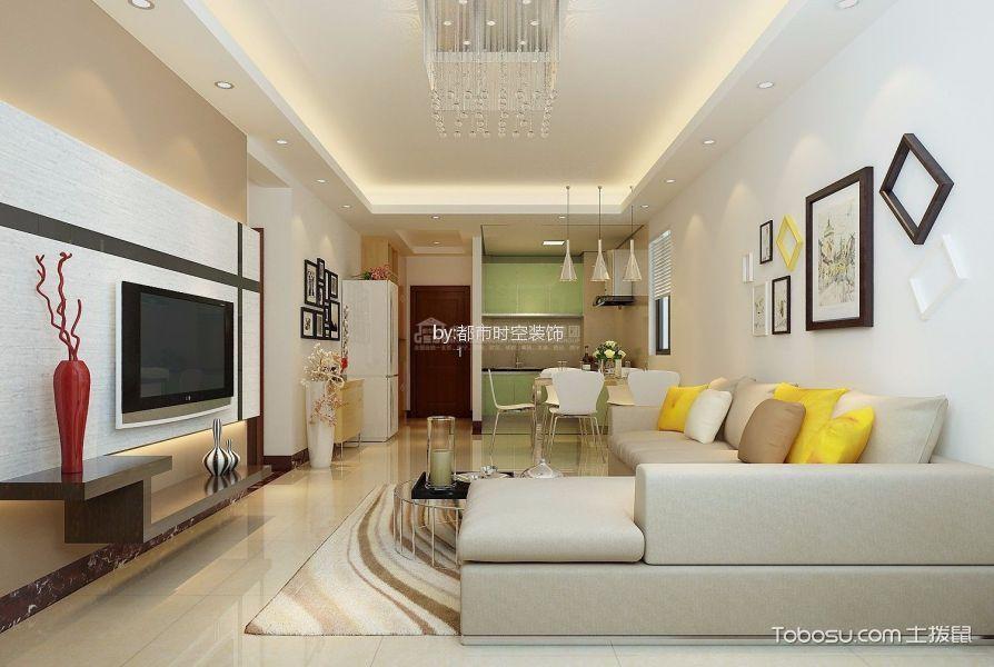 7.2万预算78平米三室两厅装修效果图