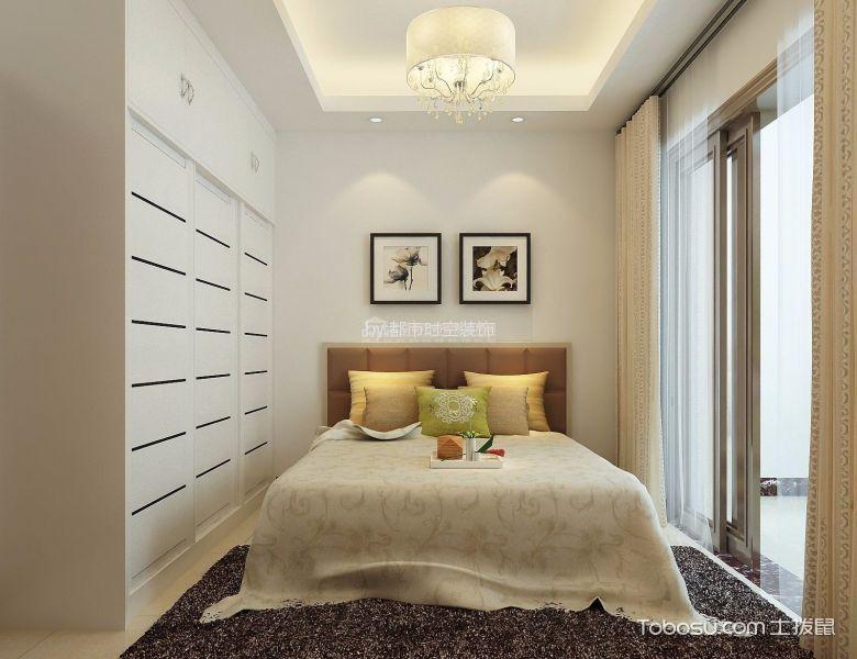 卧室白色细节现代简约风格装饰设计图片