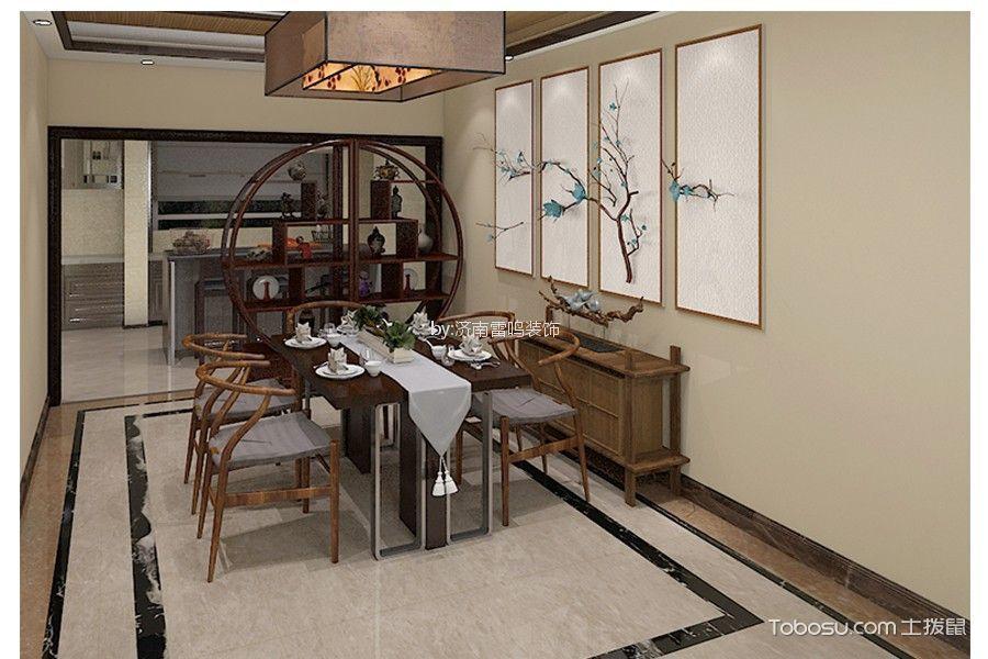 2018新中式餐厅效果图 2018新中式博古架装修设计图片