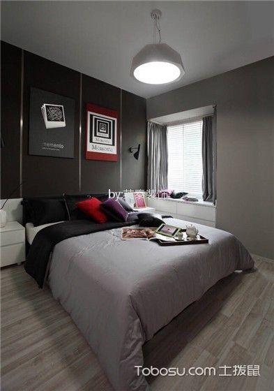 卧室灰色细节现代风格装修图片