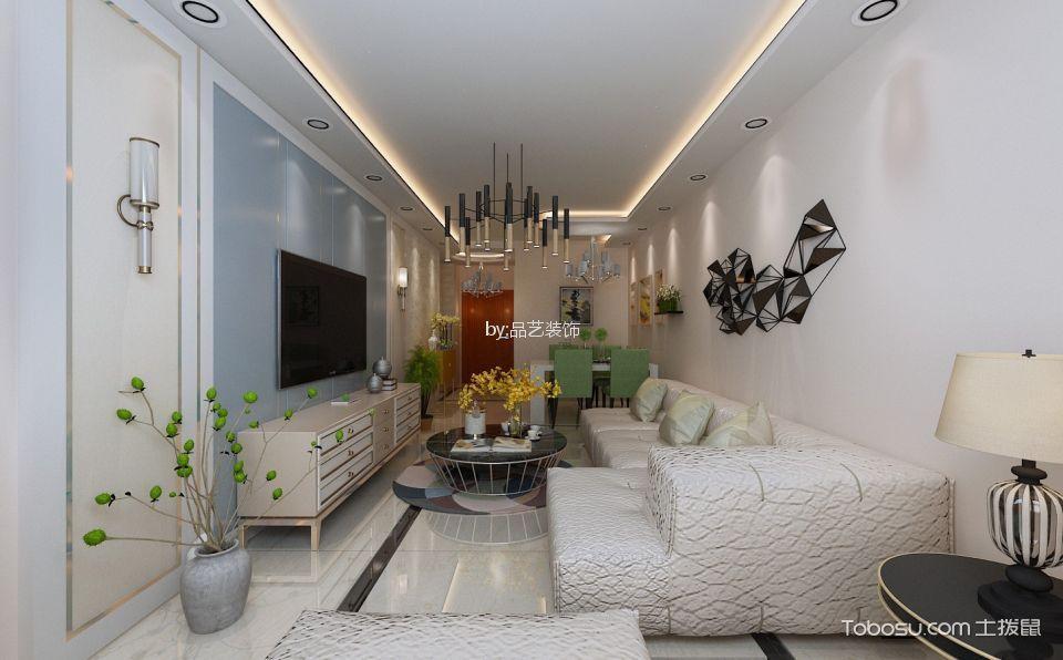 客厅米色细节简约风格装修设计图片