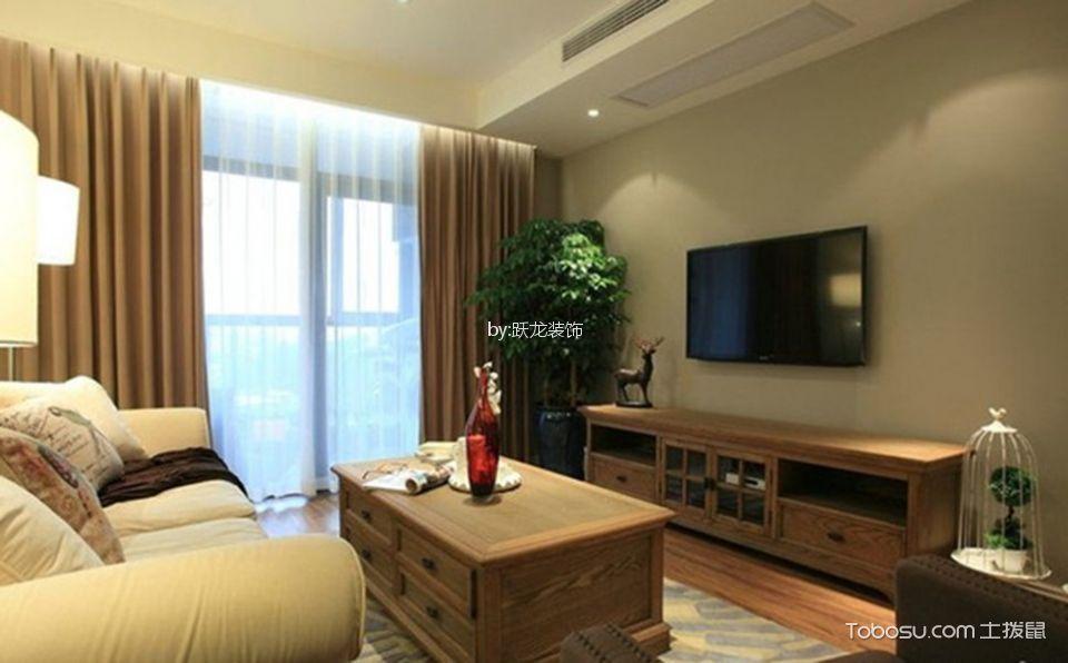 金域丹堤120平美式风格三居室装修效果图