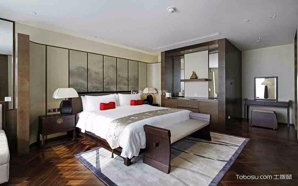 卧室咖啡色梳妆台新中式风格装修效果图