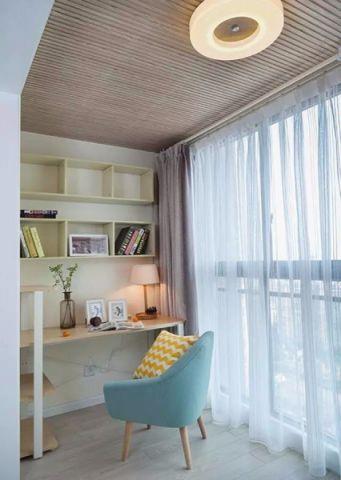 阳台窗帘简约风格装潢图片