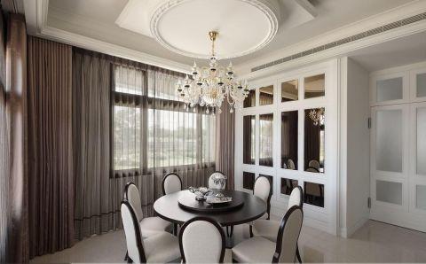 餐厅窗帘欧式风格装修图片