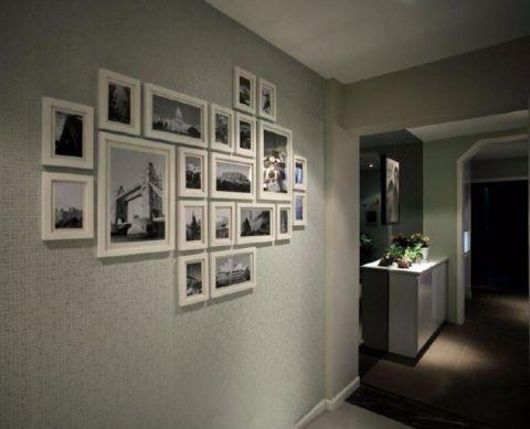 玄关照片墙简约风格装饰图片