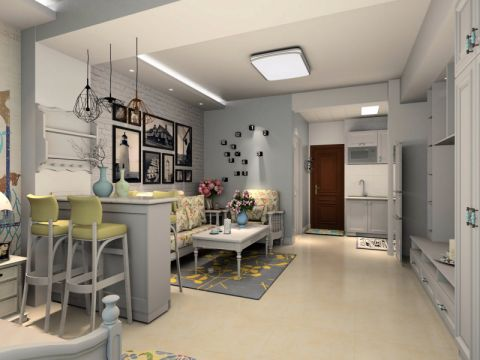 客厅吧台现代风格装饰图片