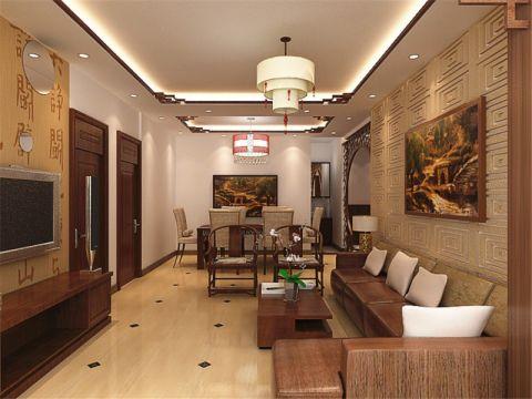 19万预算113平米三室两厅装修效果图