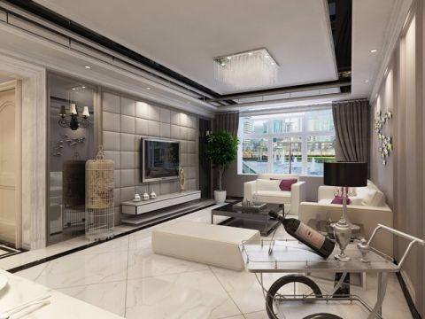 13.2万预算80平米两室两厅装修效果图