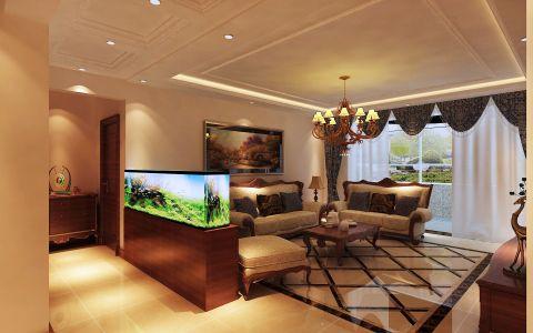 客厅走廊简欧风格装潢设计图片