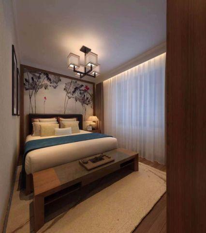 120平米新中式风格三室两厅装修效果图