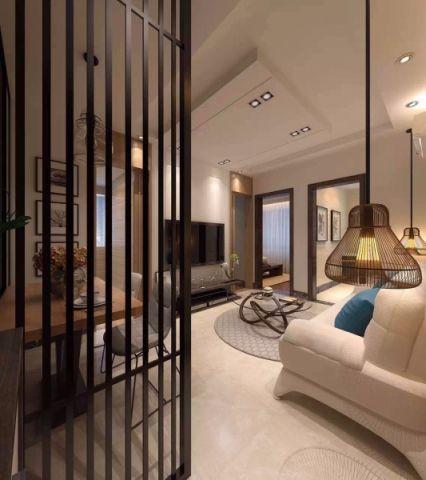 客厅窗帘新中式风格装潢图片