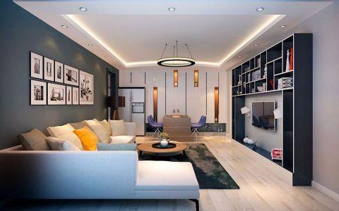 天纵半岛蓝湾98平现代简约风格二居室装修效果图