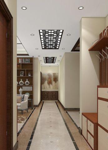 玄关走廊新中式风格装潢效果图