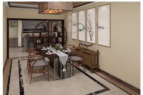 新中式餐厅博古架装修