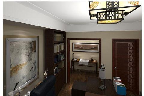 书房细节新中式风格装饰图片