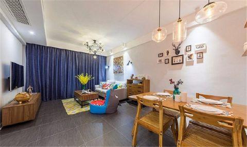 客厅博古架北欧风格装饰设计图片