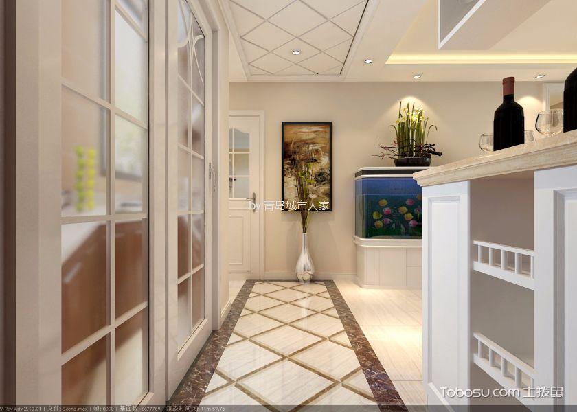 青岛保利叶公馆125平米现代简约风格效果图