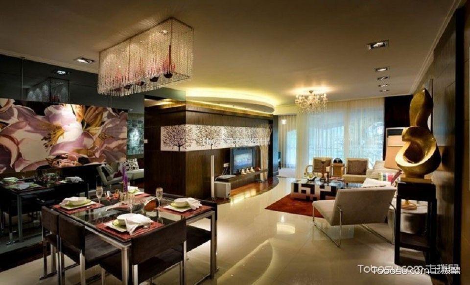 8.5万预算100平米两室两厅装修效果图