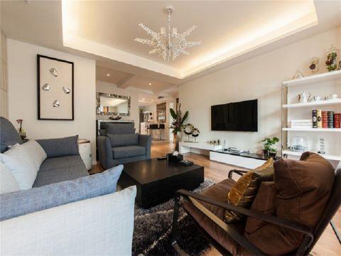 东建普君新城90平现代简约风格二室一厅装修效果图