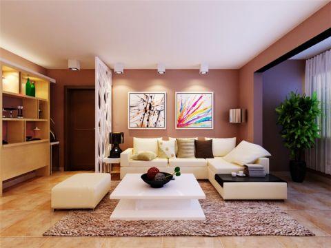 福晟钱隆城114平现代简约风格二居室装修效果图