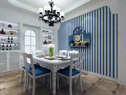 餐厅餐桌地中海风格装饰设计图片