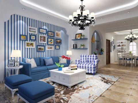 客厅隔断地中海风格装潢设计图片