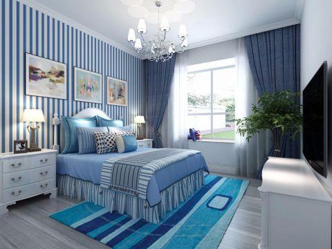 卧室飘窗地中海风格装修效果图