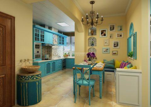 餐厅照片墙地中海风格效果图