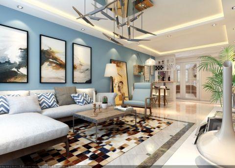 保利叶公馆125平现代风格三居室装修效果图