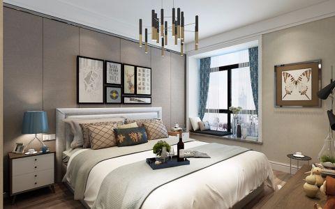 卧室背景墙现代简约风格装饰设计图片
