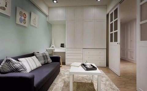 8万预算86平米两室两厅装修效果图