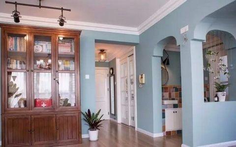玄关走廊美式风格装潢设计图片