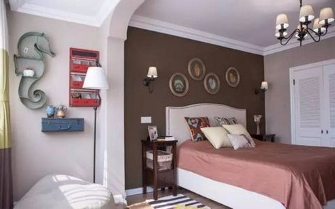 卧室细节美式风格效果图