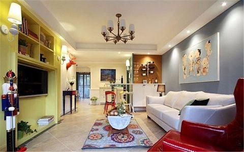 都市名园50平简约风格一居室装修效果图