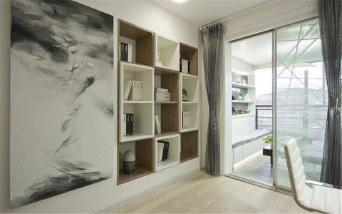 书房背景墙简约风格装潢图片