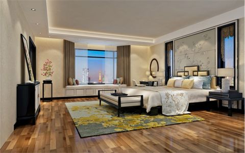 卧室床新中式风格装饰图片
