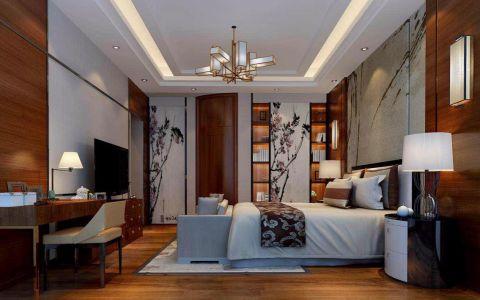 卧室床新中式风格装潢效果图