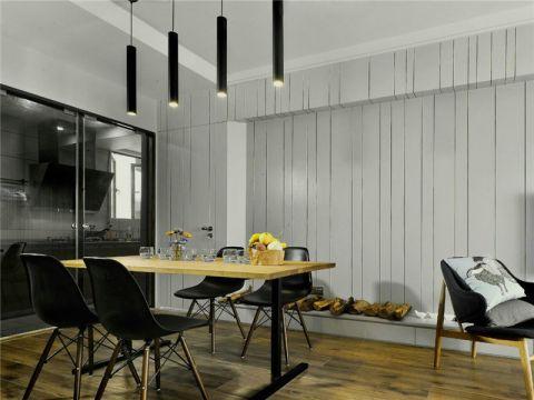 餐厅推拉门北欧风格装饰设计图片