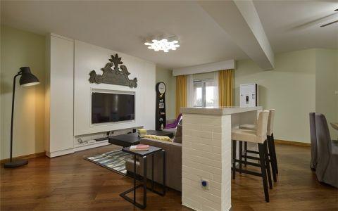 客厅吧台现代简约风格装修图片