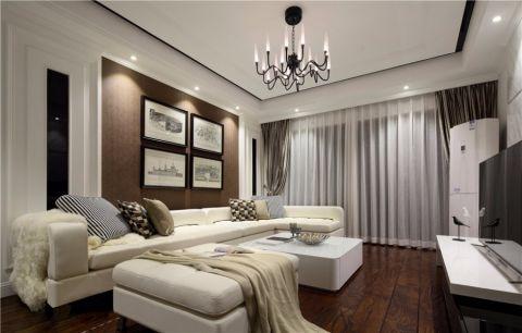 河枫御景120平米 现代风格三居室装修效果图