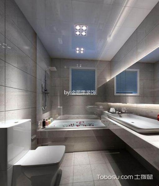 卫生间 背景墙_辰源雅景79平米现代风格小户型现代装修效果图