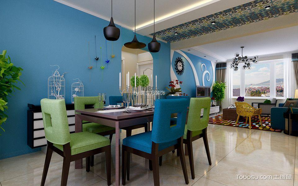 餐厅蓝色细节现代风格装饰设计图片
