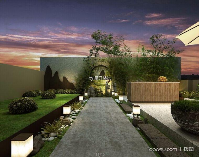阳台灰色地砖新中式风格装潢设计图片