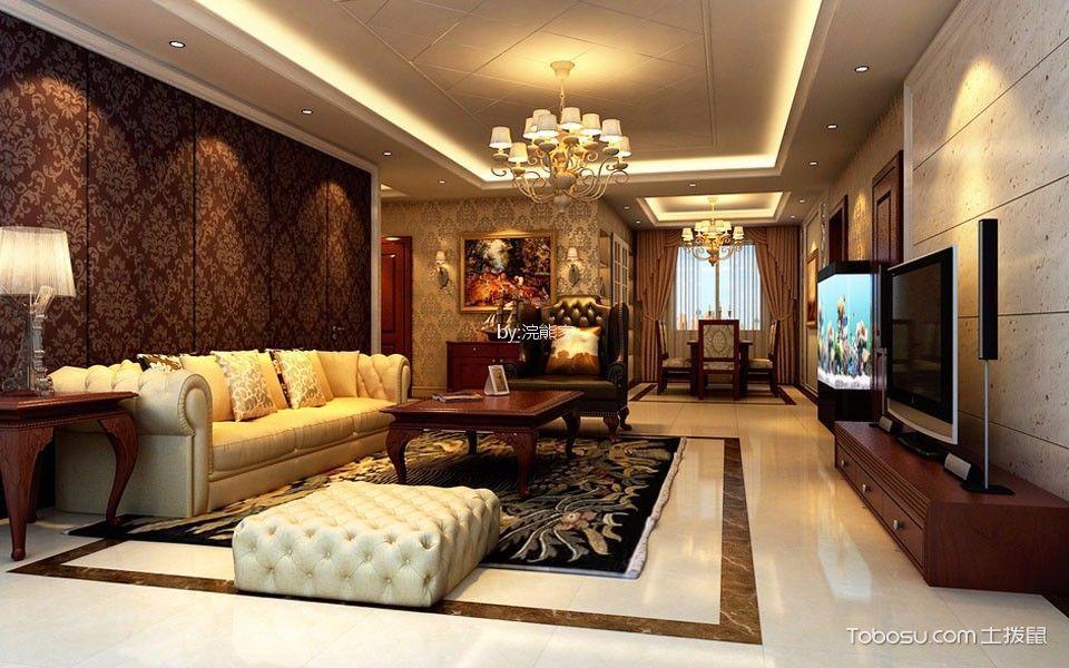 星英半岛100平方欧式风格三居室装修效果图