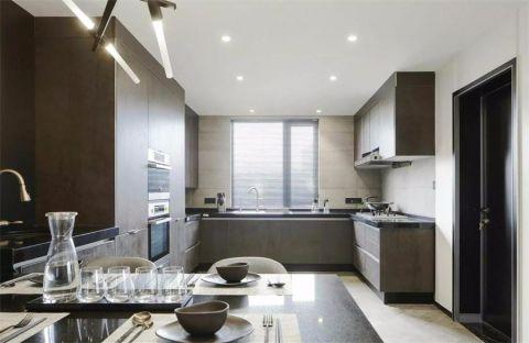 厨房背景墙现代简约风格装饰设计图片