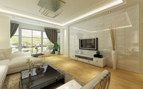 楚枫苑140平米现代简约四居室装修效果图