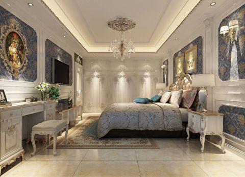 卧室照片墙法式风格装修图片