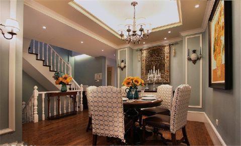 餐厅楼梯美式风格装修图片